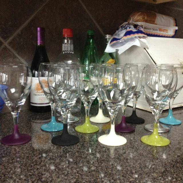 20 best safari ideas images on pinterest safari table for Spray painting wine glasses