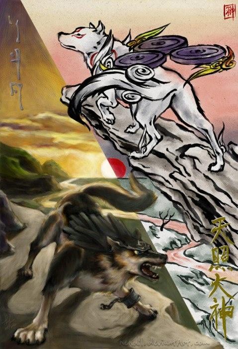 Link wolf & Amaterasu | The Legend of Zelda | Pinterest ...