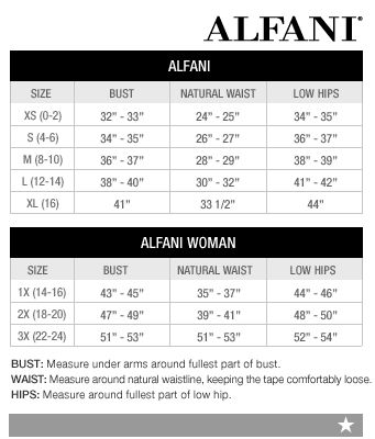 Alfani Shoe Size Chart