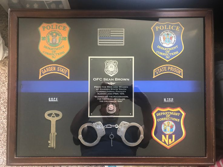 Ofc Sean Brown NJDOC correction officer shadow box