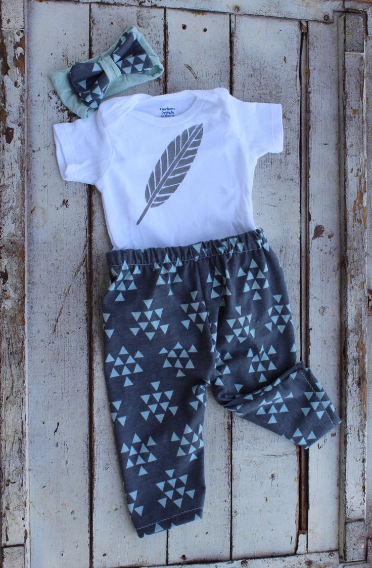 Hipster baby outfit/Triangle Tribal Feather Coming home outfit/newborn outfit/ Stylish Baby Clothes/Take Home Outfit/Leggings/Gender Neutral by EmmaStitchCompany on Etsy https://www.etsy.com/listing/242315790/hipster-baby-outfittriangle-tribal
