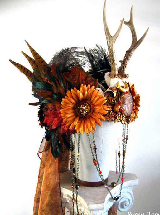 Pagan Autumn Festive Crown