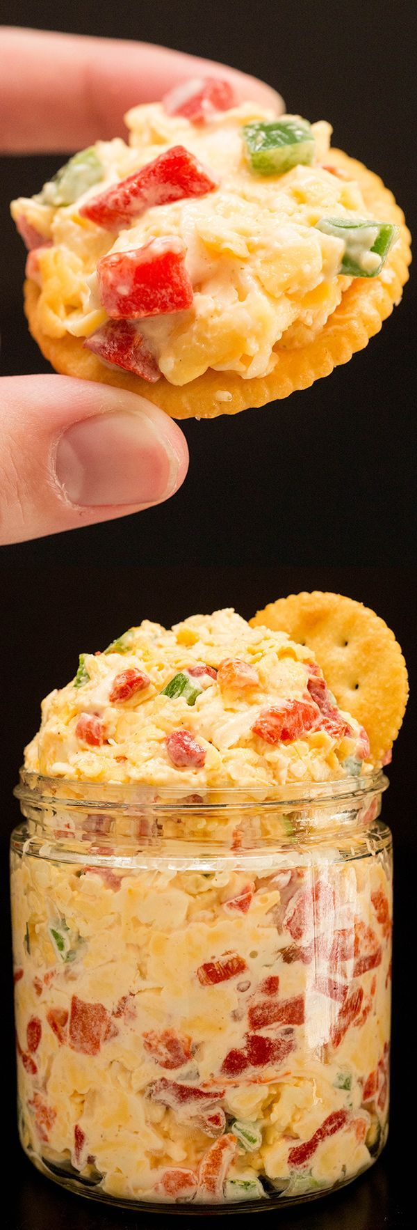 Pimento Cheese Recipe - Great game day appetizer! #gameday #superbowl #appetizer