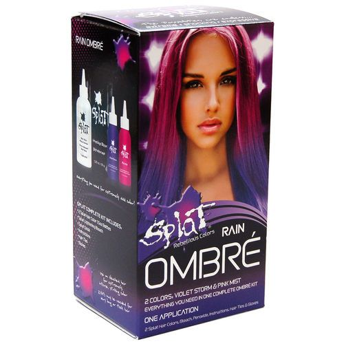 Splat Rebellious Colors Semi Permanent Hair Dye Rain Ombre Semi