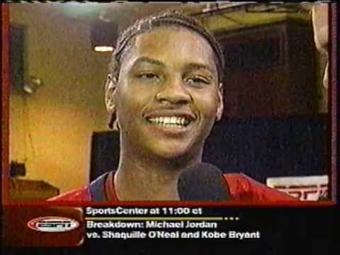 Carmelo Anthony - 2002 High School Dunk Contest (McDonald's All-American) - YouTube