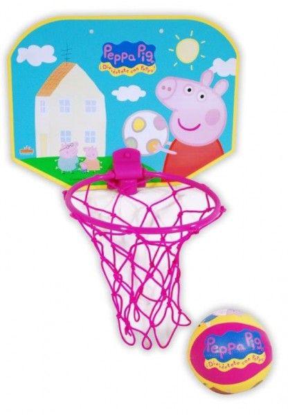 Gioco Peppa Pig Mini Basket Canestro con Palla Gonfiabile, Giochi Bambino Peppa Pig - TocTocShop.com -