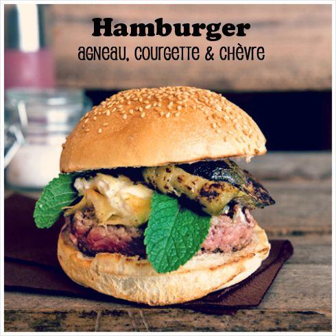 Burger #bigfernand : Agneau, courgette et chèvre