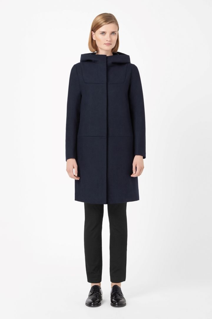COS | Hooded wool coat