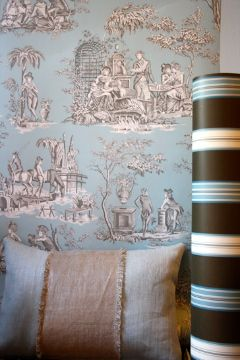 Wallpaper & cushion