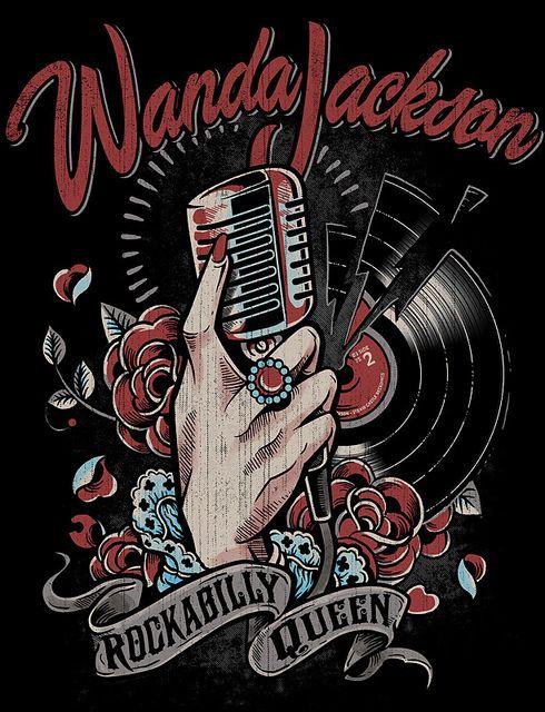 Wanda Jackson rockabilly Queen. #musicart #posterart http://www.pinterest.com/TheHitman14/music-poster-art-%2B/
