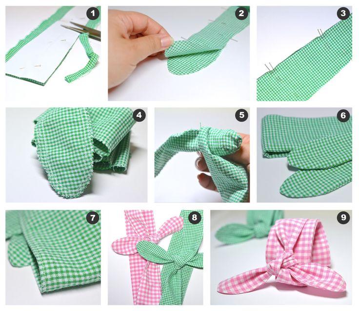 DIY: Sy herlige hårbånd! Gratis mønster og trinn-for-trinn-forklaringer på myldre.com.  DIY: Sew cute headbands! Free pattern an tutorial at myldre.com.