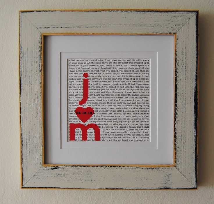 Anniversary Gift via Etsy. I Do Pinterest First anniversary ...