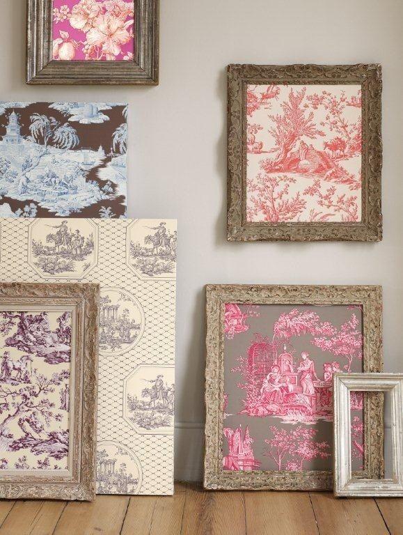 Encadrez des échantillons de papier peint ou des chutes de tissu. | 20 idées de décoration gratuites