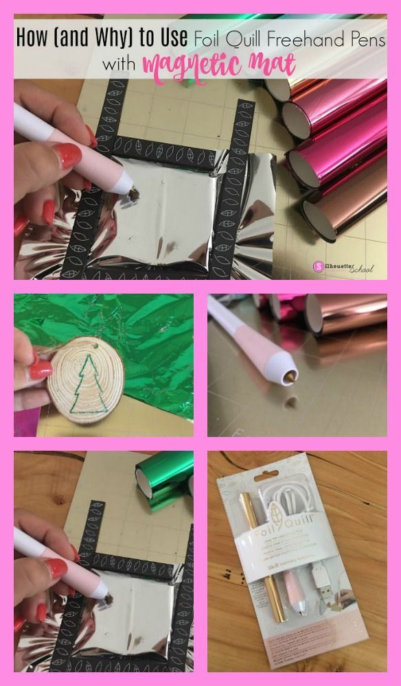 How To Use Foil Quill Freehand Pens And Magnetic Mat Together Quilling Foil Hot Foil Stamping