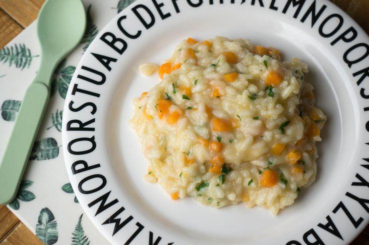 Het recept voor wortel risotto is het perfecte gerecht voor babyvoeding tot een echte familie maaltijd. Gezellig samen aan tafel
