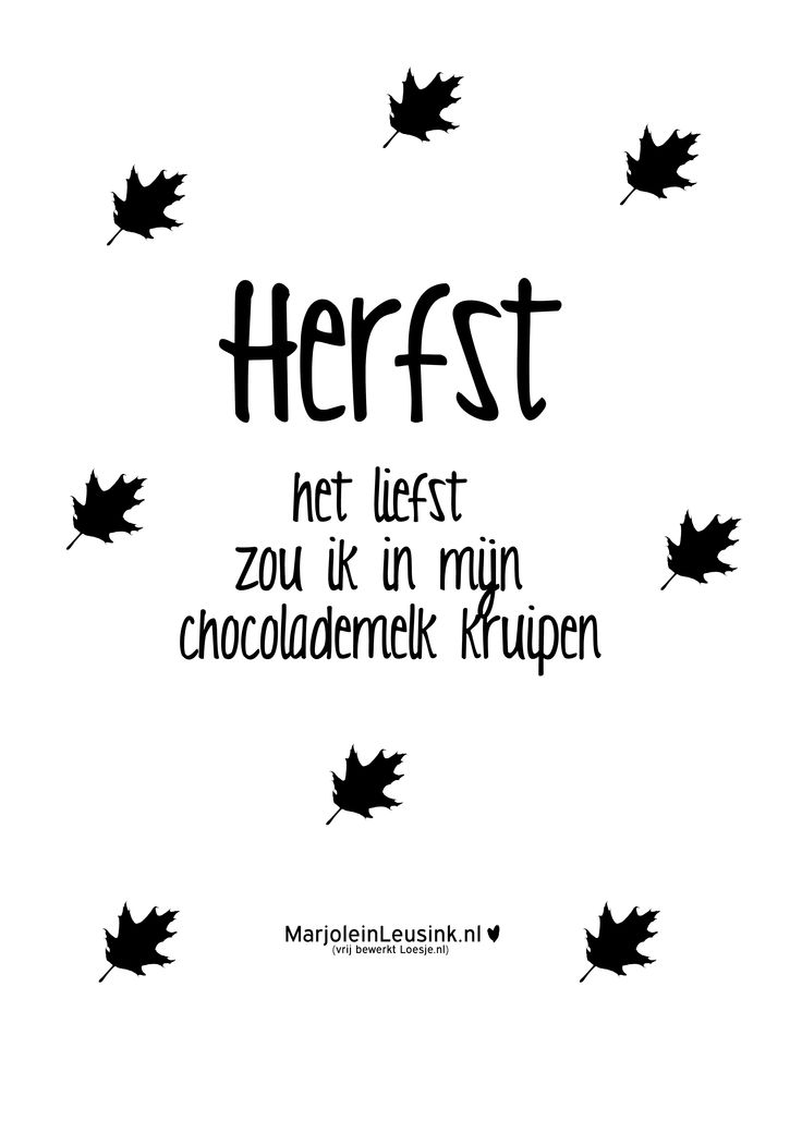 herfst, poster, quote, autumn ❥