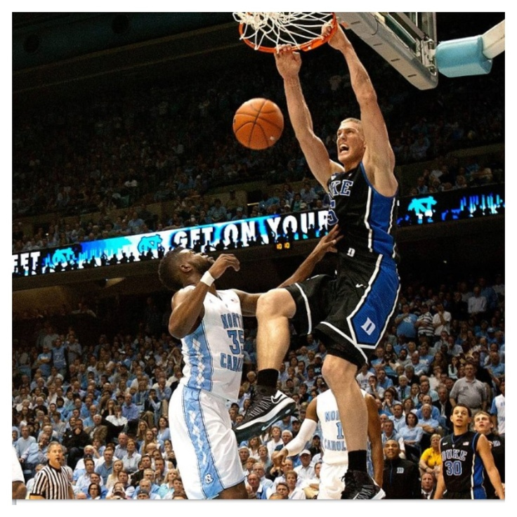 Mason Plumlee ......take that UNC!! BOOOOM!!! Duke Basketball