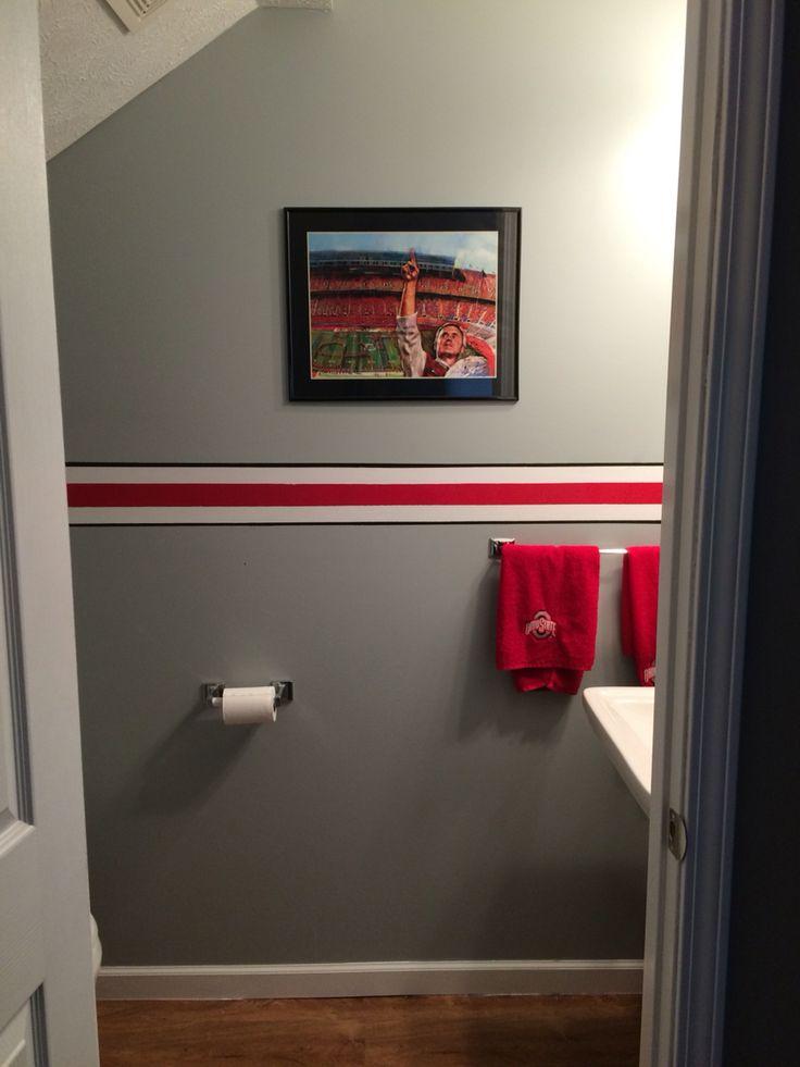 Ideas About Sports Bathroom On Pinterest Baseball Bathroom Decor . Ohio  State ...
