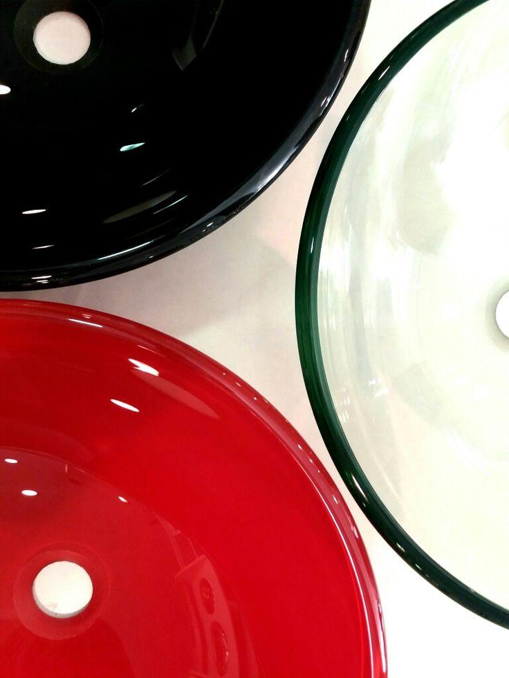 Bachas de vidrio color negro,colorado o transparente
