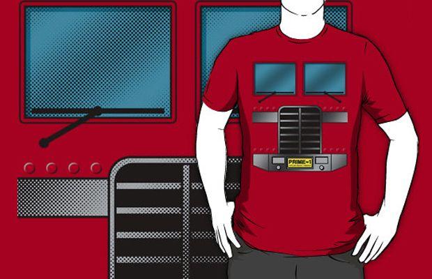 Optimus Prime Costume T-Shirt Get yours here: http://tshirtonomy.com/go/optimus-prime