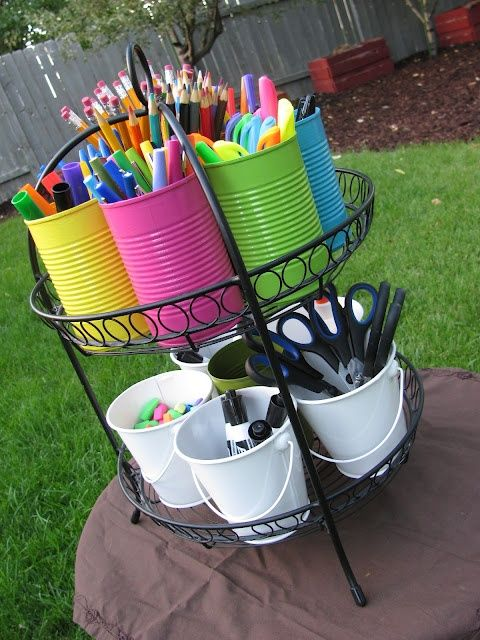 School Supply Caddy - I would use this to organize an office, only use those spinning space saver thingies.