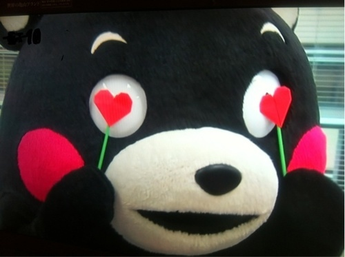 くまモン Kumamon in love