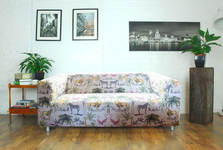 Ikea Klippan Sofa Cover in beautiful Safari by HipicaInteriors
