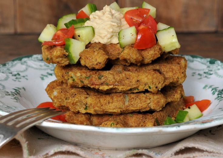 Vegan Falafel Waffle | One Green Planet. I mean what a great idea, come on! Deliciousness.