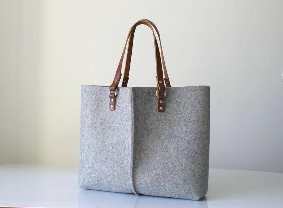100% design wol voelde tas Elegant en Casual wol vilt door Lefrac