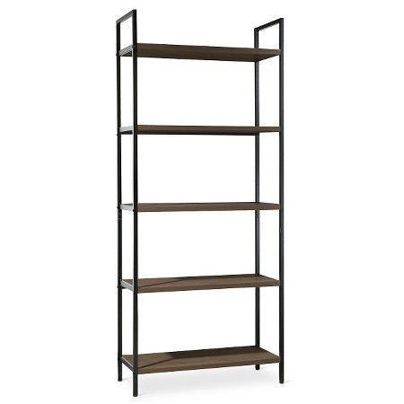 www.target.com p darley-5-shelf-ladder-bookcase-walnut-threshold - A-51485181