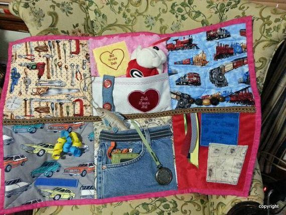 Alzheimer's Man's Fidget Lap Quilts also for by NansSewingCorners