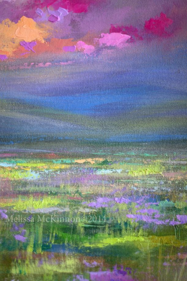 """""""From Here I Can Go Anywhere"""" (Detail Image)  MELISSA MCKINNON Contemporary Abstract Landscape Artist features BIG COLOURFUL PAINTINGS of Aspen & Birch Trees, Rocky Mountains and stunning views of the Canadian prairies, big skies and ocean beaches. Western Art."""