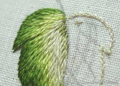 Long and Short Stitch Shading Lessons on needlenthread.com