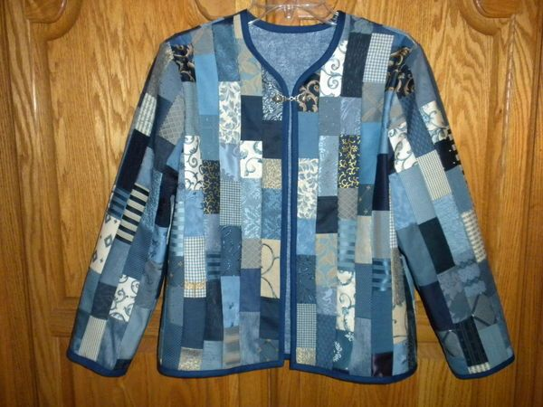 Another version Sweatshirt used to make a Bargello Jacket