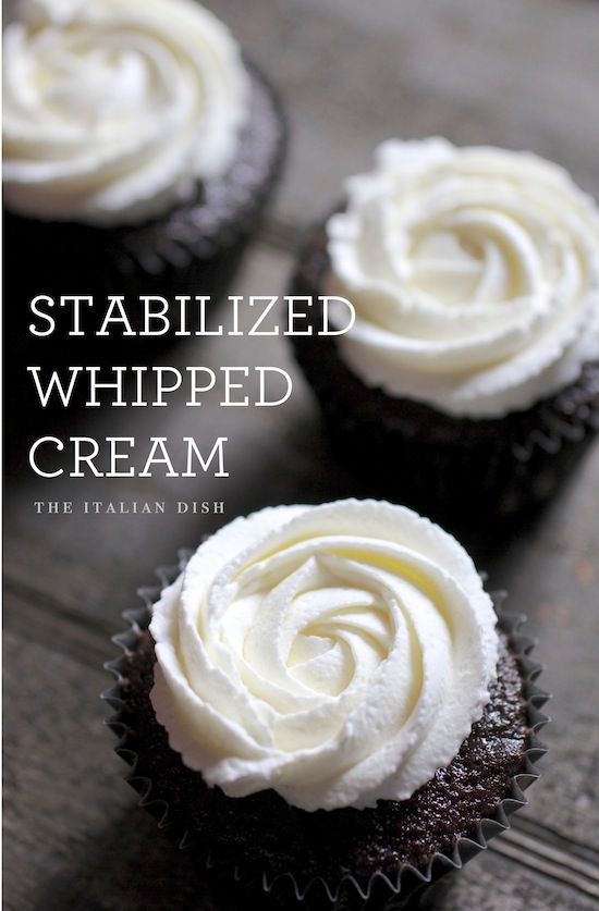 How to make Stabilized Whipped Cream that holds up for days! --- TO DECARB: Replace sugar with sweetener of choice.