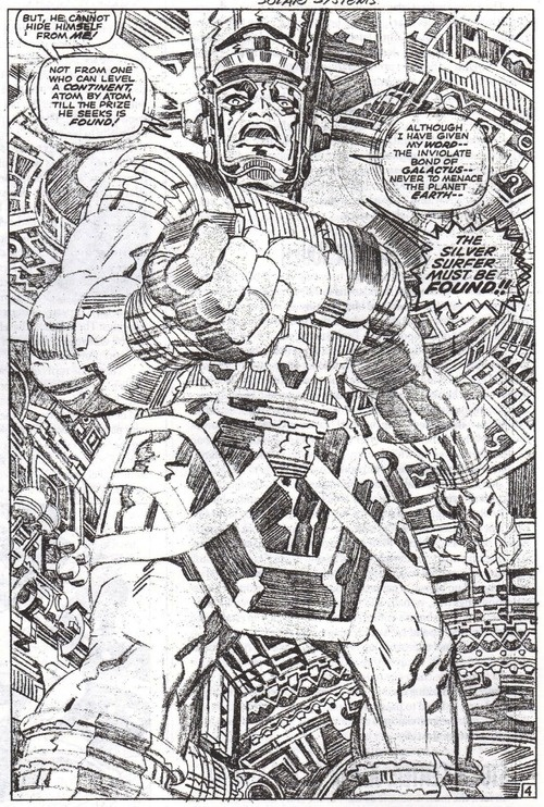 seanhowe:  Jack Kirby. From Fantastic Four #75.
