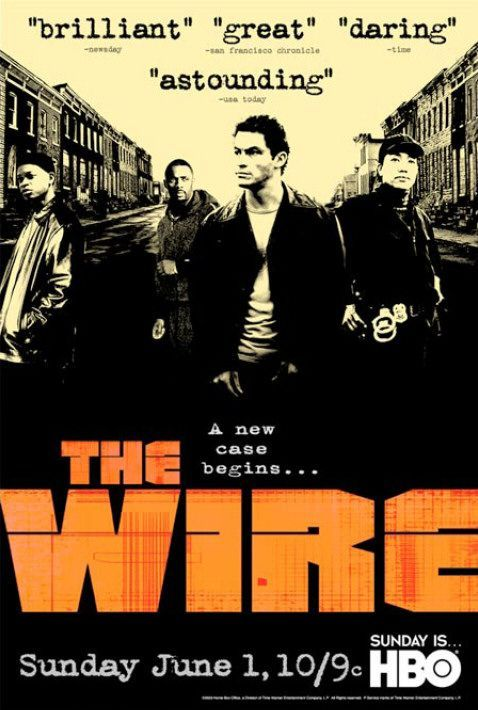 "The Wire - best tv show ever.  As one of my TV snob friends said back in the day, ""If you have HBO and you're not watching The Wire, you're just foolish."""