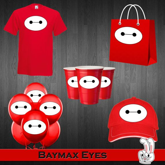 Big Hero 6 Baymax Eyes Birthday Party от FunnyBunnyStore на Etsy