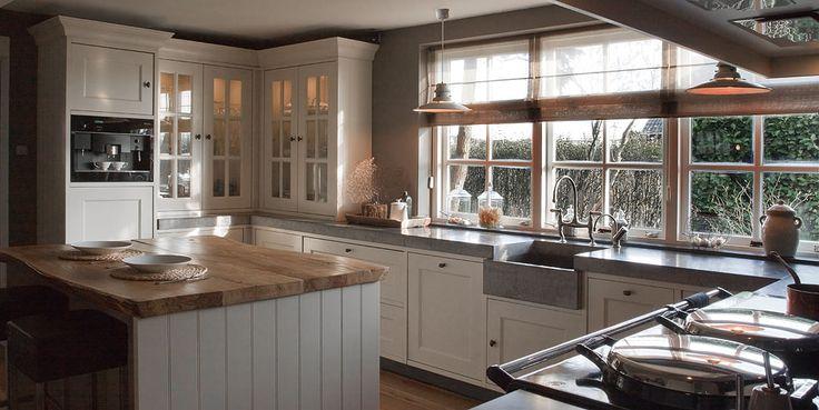 love the sink, butcher block...windows, lighting <3