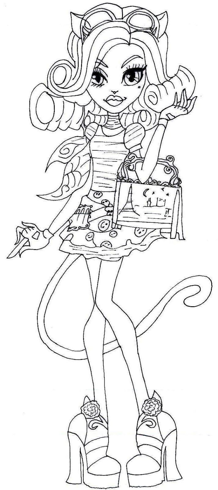 monster high free printables | Free Printable Catrine Demew Coloring Page