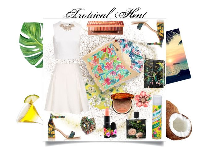 """""""Tropical Heat"""" by spookie1 ❤ liked on Polyvore featuring Marinette Saint-Tropez, Gucci, Sweet Romance, Nest Fragrances, Clarins, Urban Decay, Ted Baker, MAC Cosmetics, Batiste and Anne Klein"""