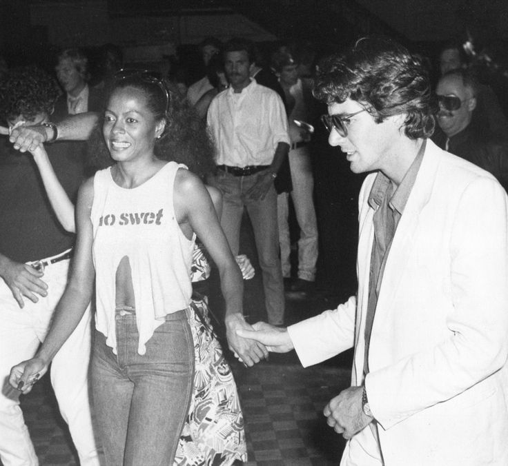 Diana Ross and Richard Gere dancing at Studio 54