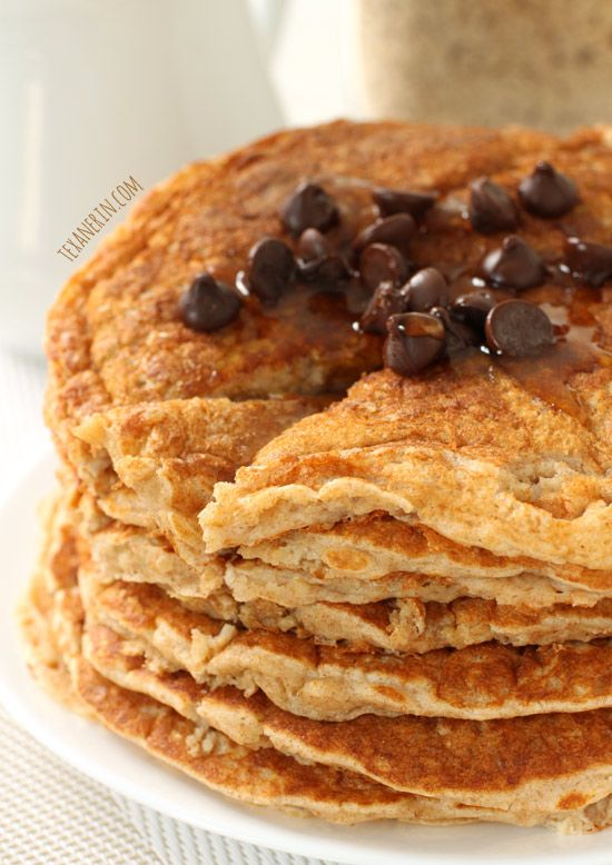 100% Whole Grain Pancake Mix – these whole wheat pancakes don't taste the least bit healthy! From texanerin.com