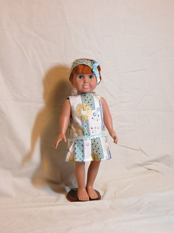 Hanukkah  Chanukkah  themed dress and headband  by MarjorelloToo, $12.00