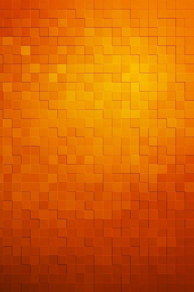Orange | Orange Blocks Wallpaper