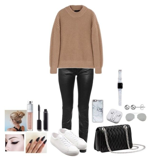 """Untitled #268"" by mariapangal ❤ liked on Polyvore featuring Balenciaga, Calvin Klein Collection, Sandro, Miu Miu, Chanel, Christian Dior, Zero Gravity, PhunkeeTree, Acne Studios and Journee Collection"