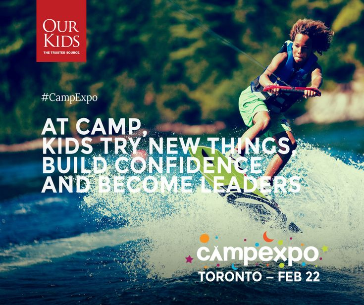 At camp, kids try new things, build confidence and become leaders! Read more about the benefits of #camp here: http://www.ourkids.net/camp/benefits-confidence-social-skills.php www.campexpo.ca