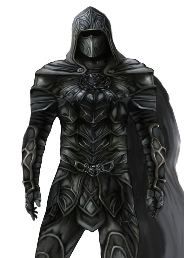 Possible grey armour minus the mask, but only thin leather, not actually protective more to aid climbing