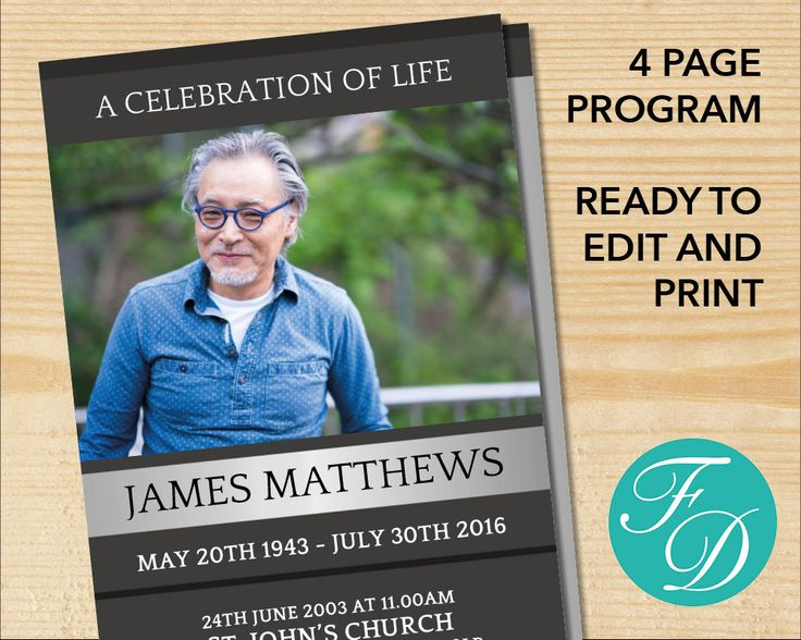 236 best Funeral Programs for Men Obituary Templates \ Prayer - microsoft work order template