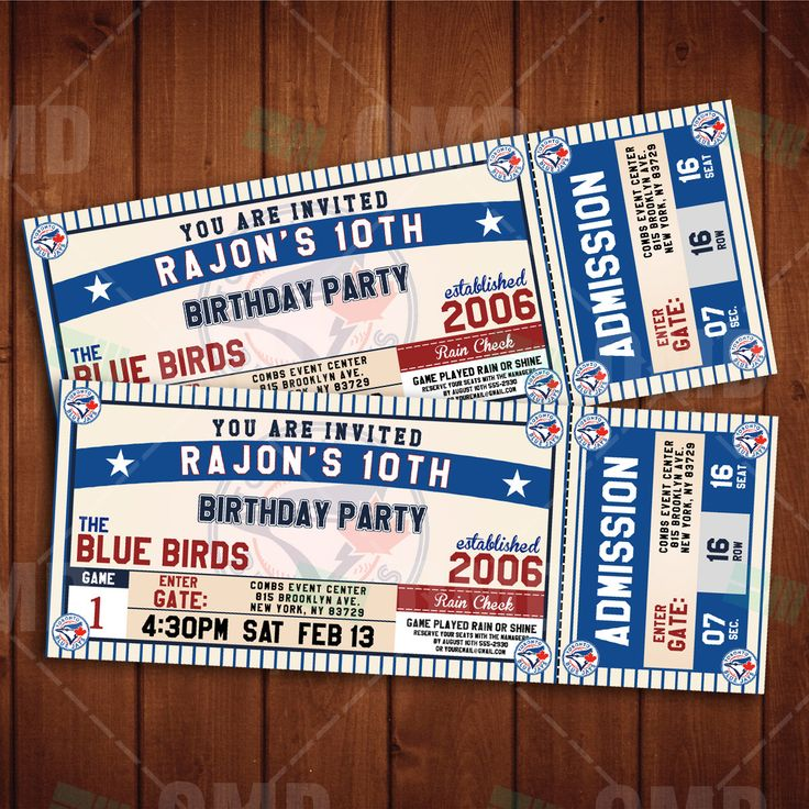 55 best Texas Rangers b-day party images on Pinterest Baseball - party tickets templates
